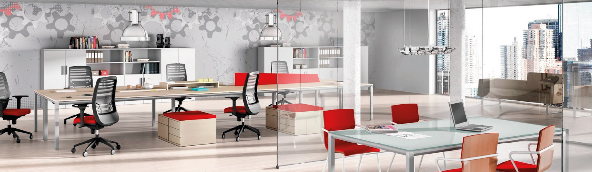 Pantallas divisorias acabados arquitect nicos dismagar wp for Mobiliario de oficina moderno